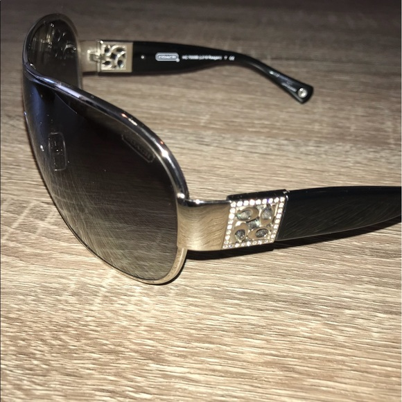 95a9af6b212b ... discount used coach shield sunglasses with crystal accents dc12e d9025  norway coach womens ...